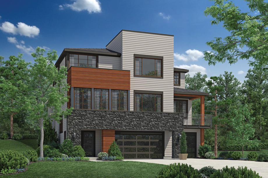 Pipers glen the enatai home design for Northwest contemporary homes