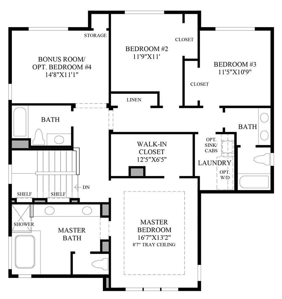 Optional Alternate 3rd Floor Floor Plan