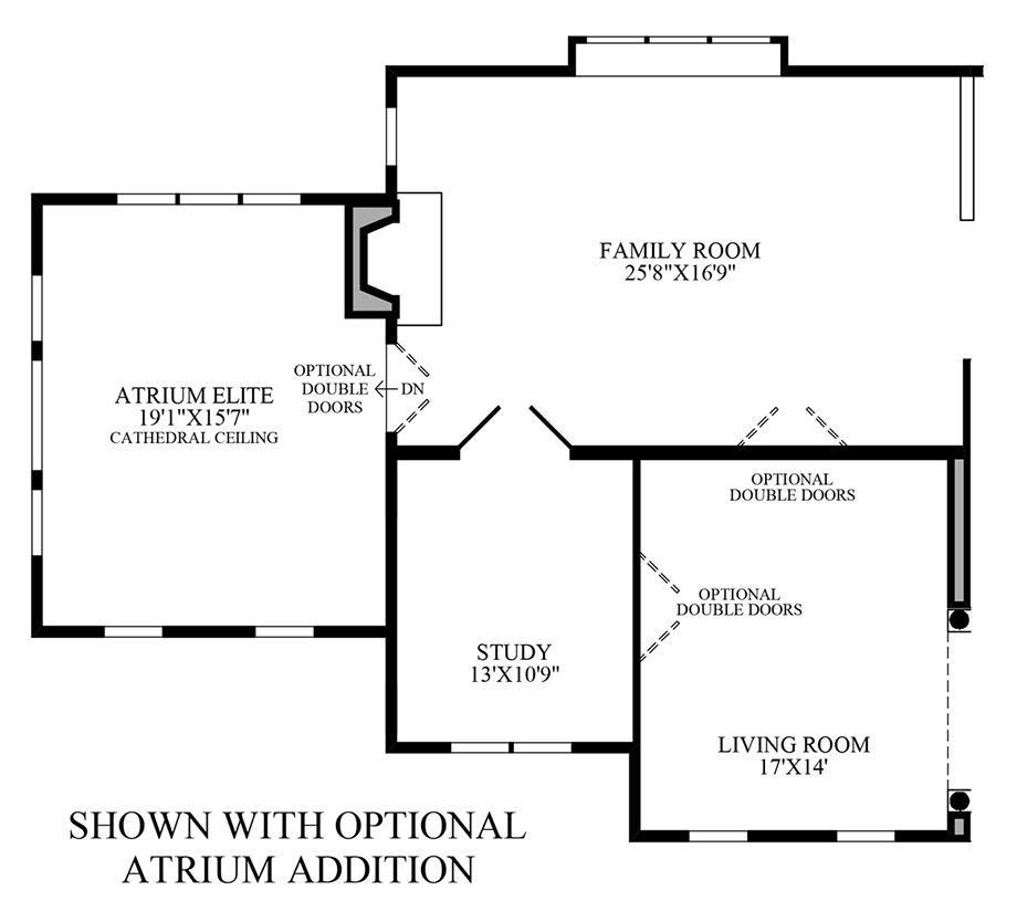 Optional Atrium Addition Floor Plan