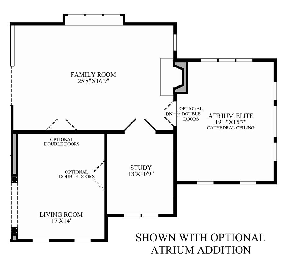 Optional Atrium Addition Floor Plan