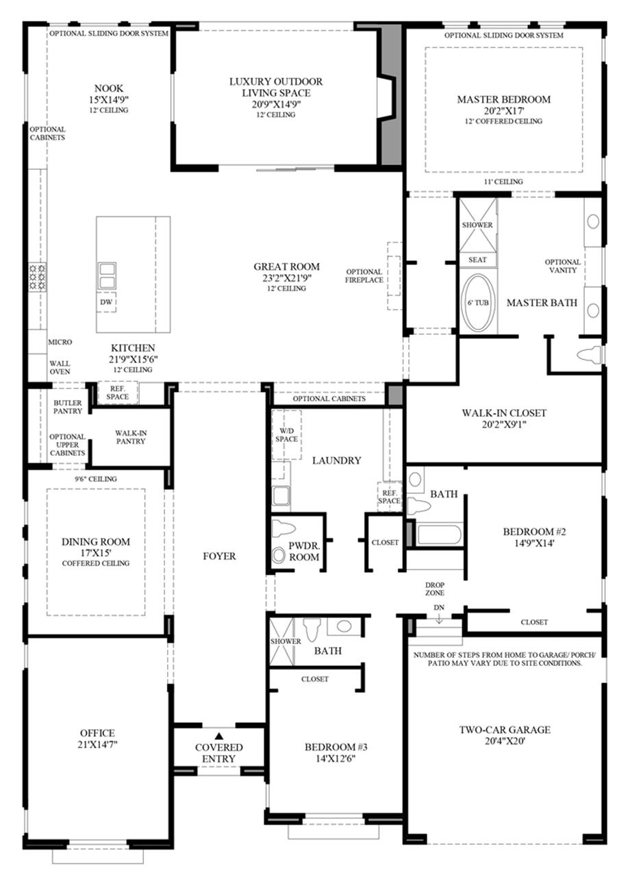 Optional Office In Lieu of Standard Bedroom