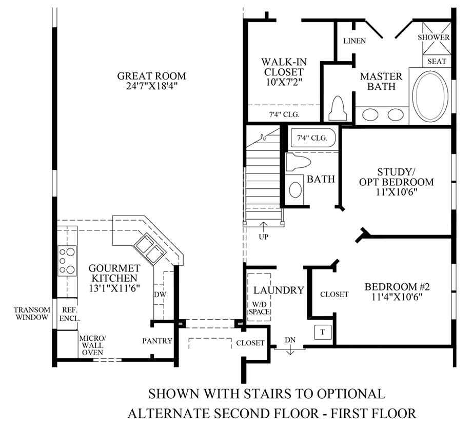 Optional Stairs to Alternate 2nd Floor (1st Floor) Floor Plan