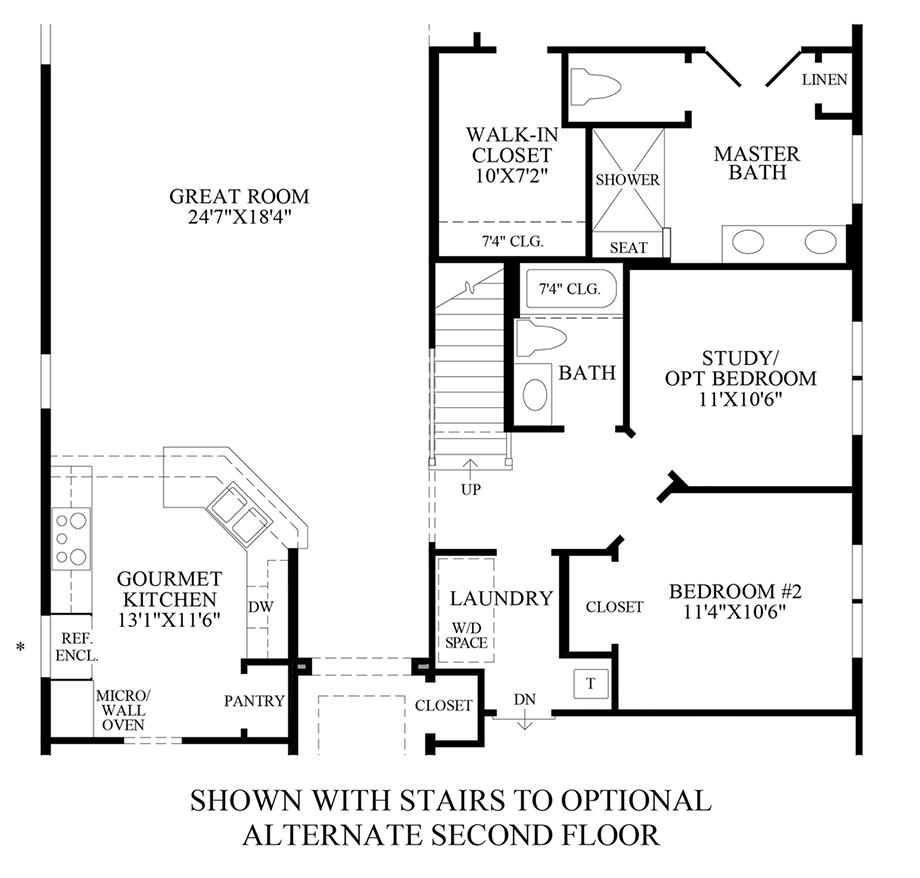 Stairs to Optional Alternate 2nd Floor Floor Plan