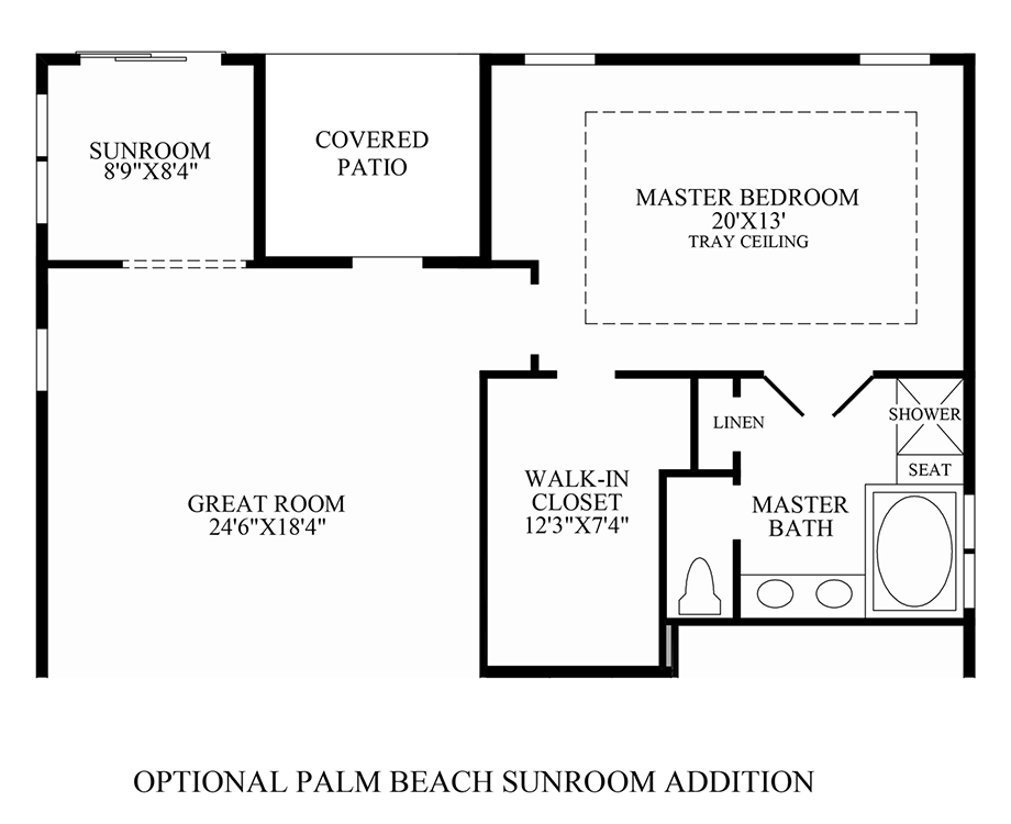 Optional Palm Beach Sunroom Addition Floor Plan