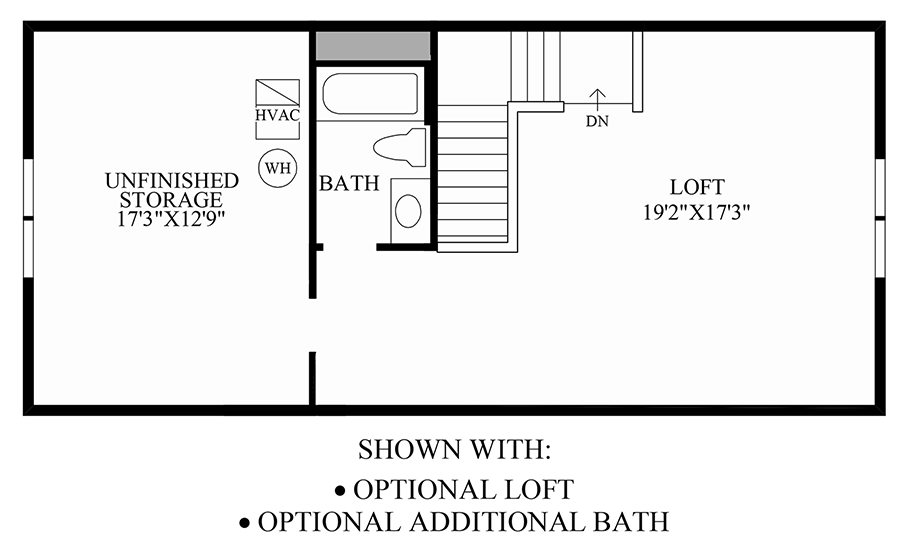 Optional Loft & Additional Bath Floor Plan