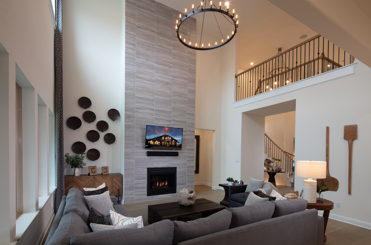Bright two-story great room