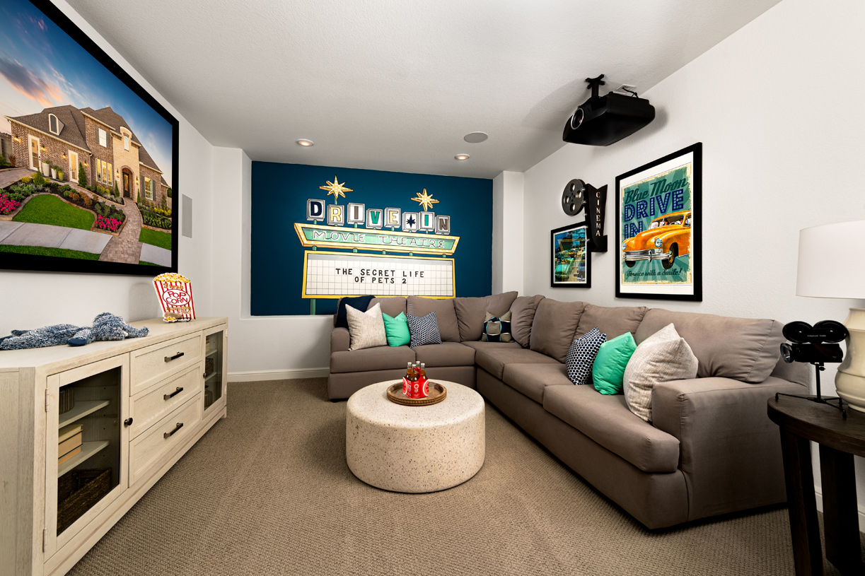 Relax with a film in the versatile media room