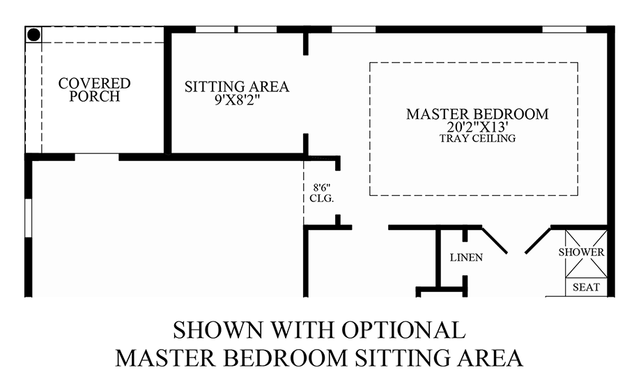 Optional Master Bedroom Sitting Area Floor Plan