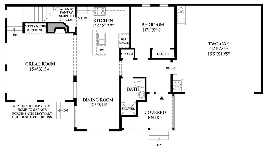 Optional 1st Floor Bedroom ILO Library Floor Plan