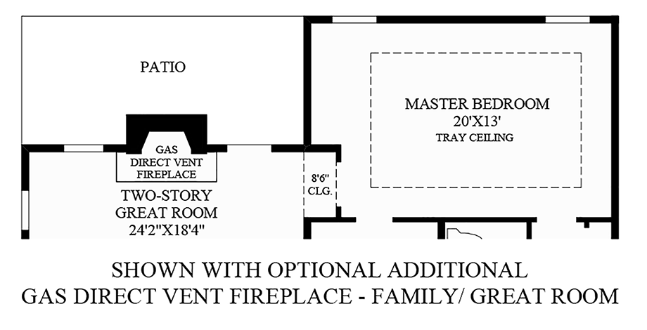 Optional Additional Gas Direct Vent Fireplace - Family/Great Room Floor Plan