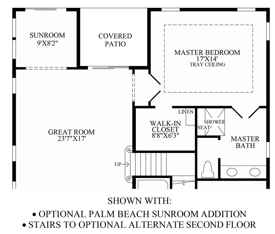 Optional Palm Beach Sunroom Addition Floor Plan