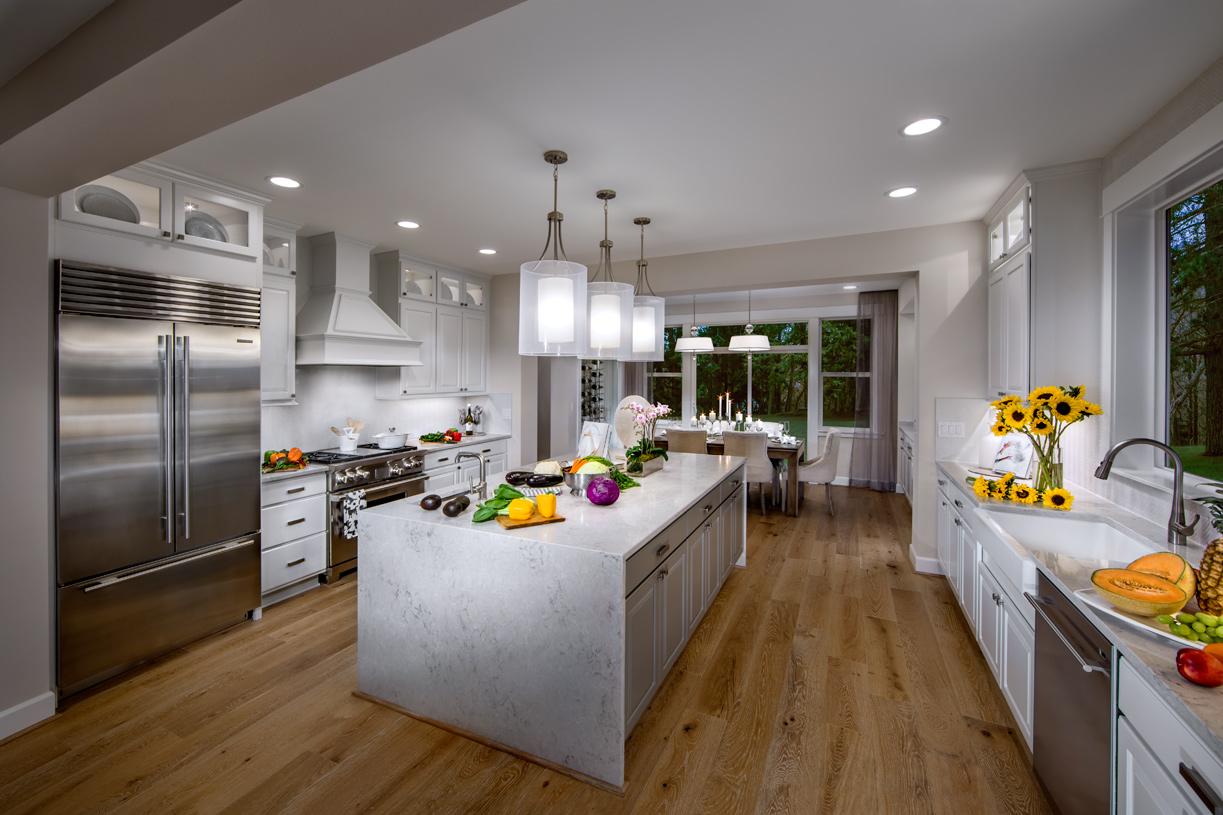 Spacious kitchen offers plenty of storage