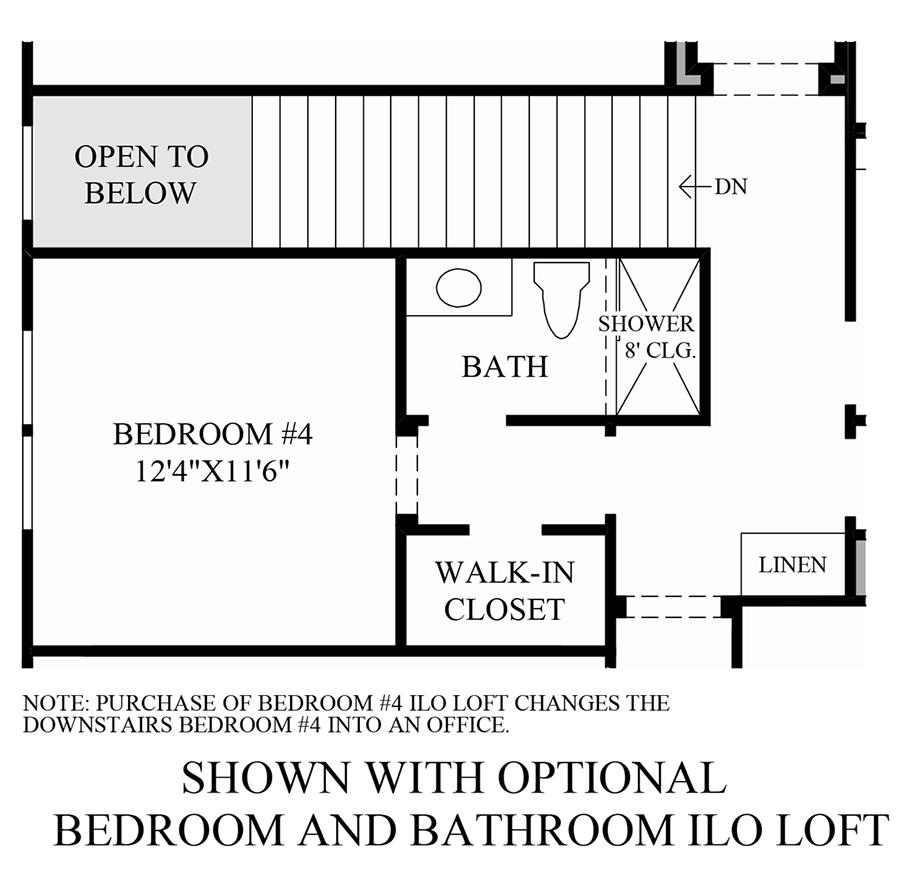 Optional Bedroom and Bathroom ILO Loft Floor Plan