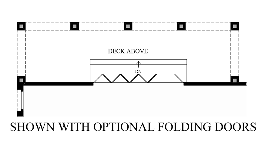 how to draw folding doors in plan