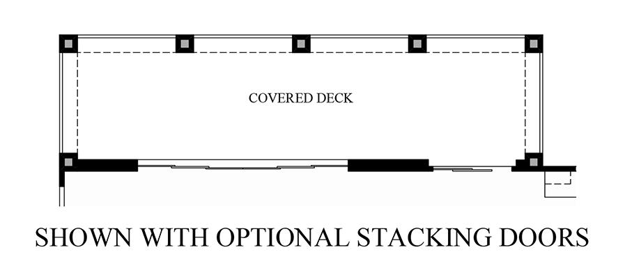 Optional Stacking Doors Floor Plan
