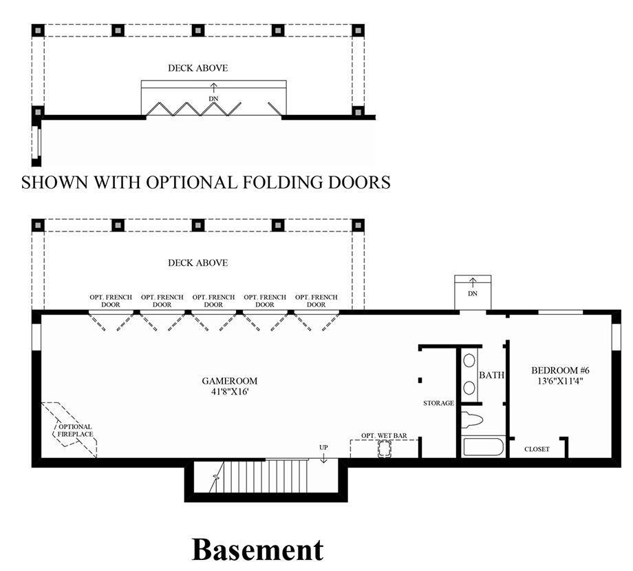 Lower Level Basement Floor Plan