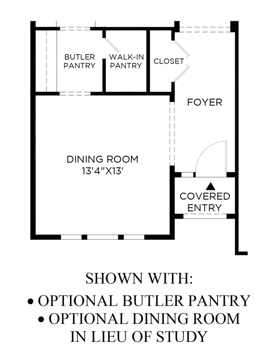 Optional Butler Pantry & Dining Room in Lieu of Study