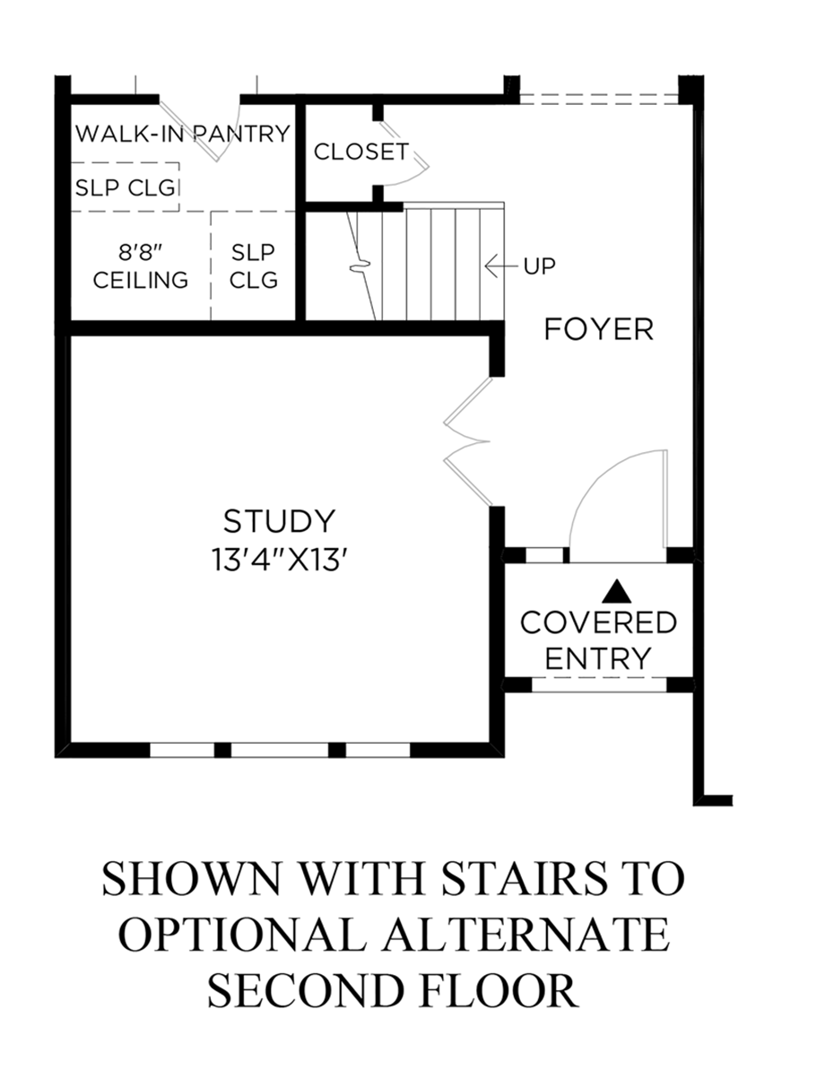 Stairs to Optional Alternate Second Floor