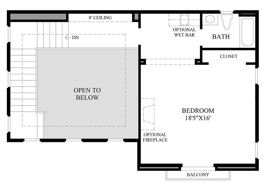 Optional Bedroom In Lieu of Loft