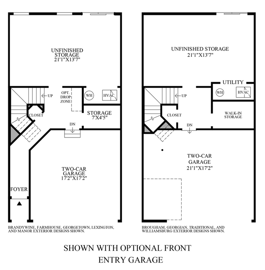 Optional Front Entry Garage Floor Plan
