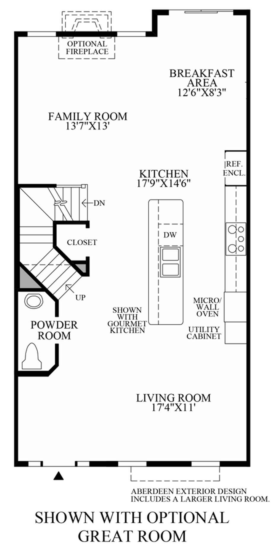 Optional Great Room Floor Plan