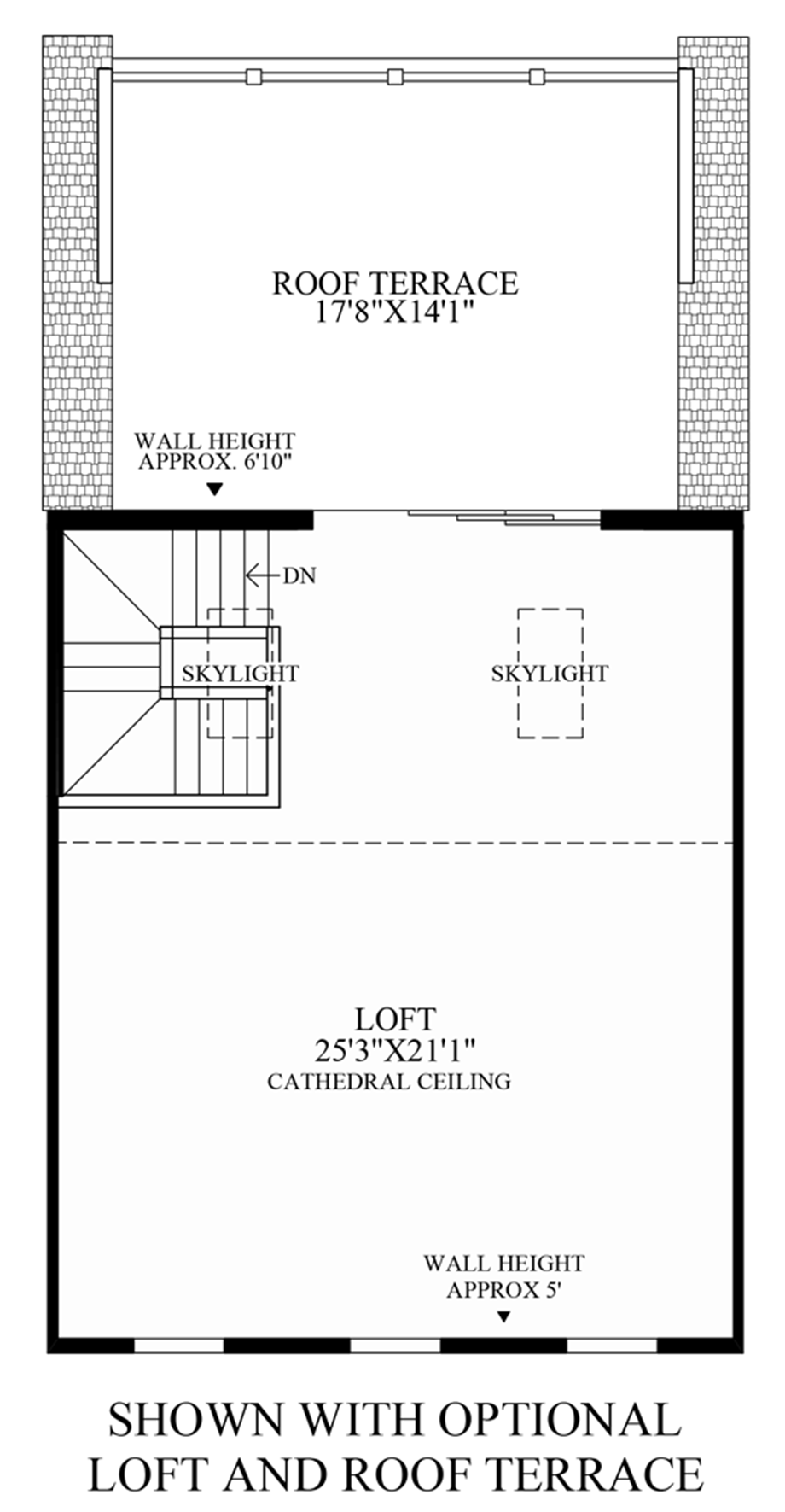 Optional Roof Terrace Floor Plan