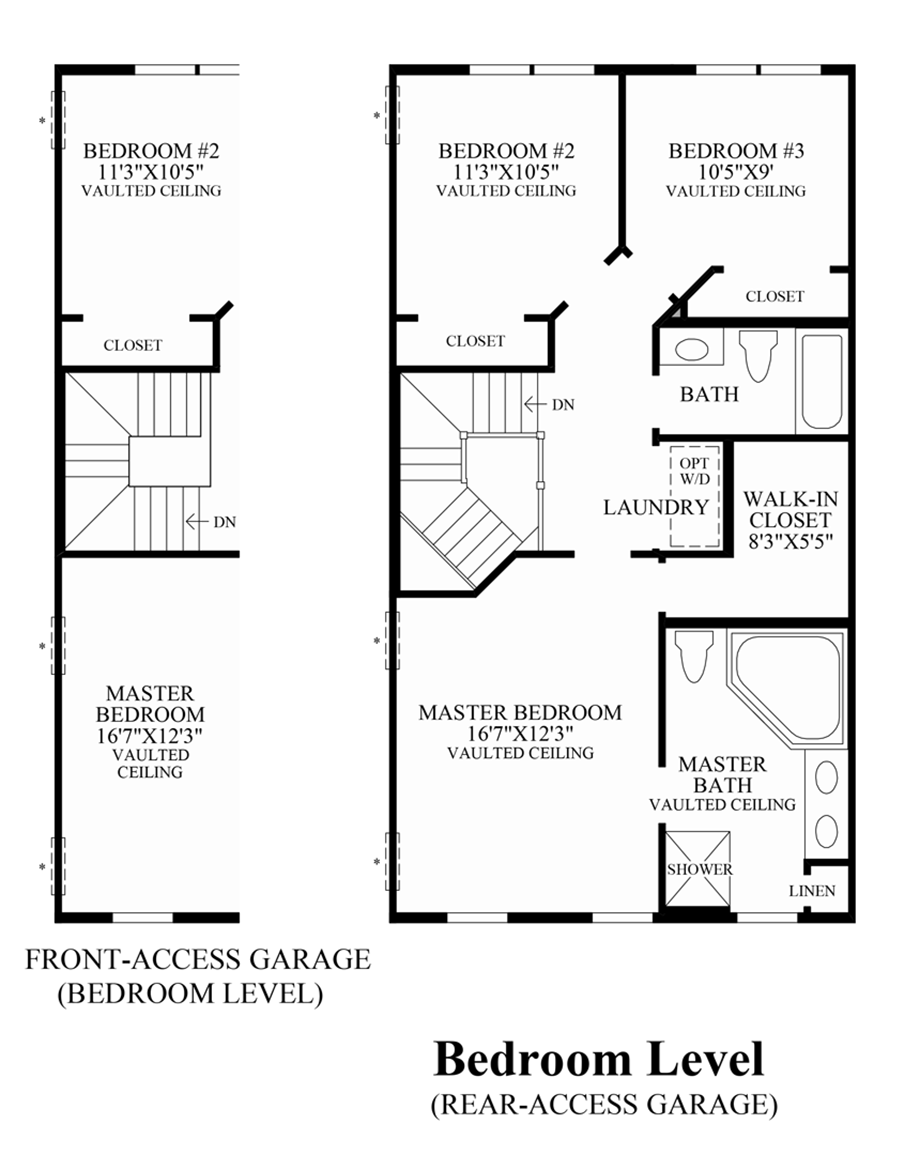 Ravenscliff at media townhomes the fulton home design for Design your own bedroom floor plan