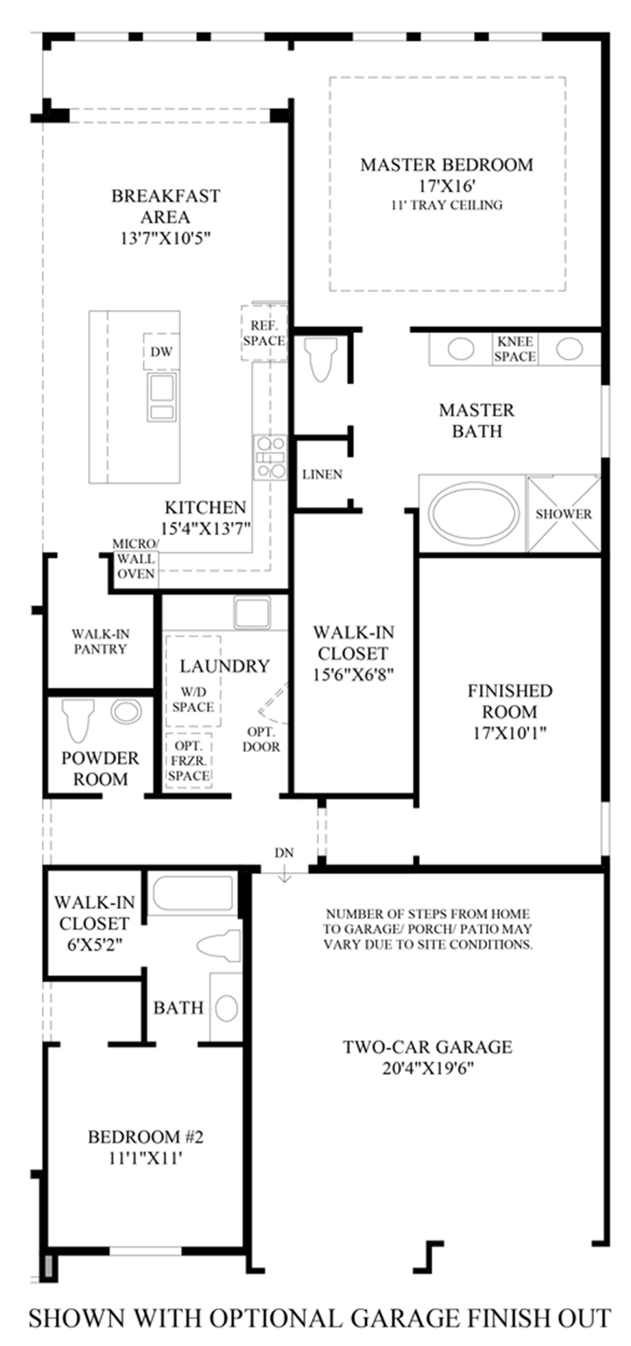 Optional Garage Finish Out Floor Plan
