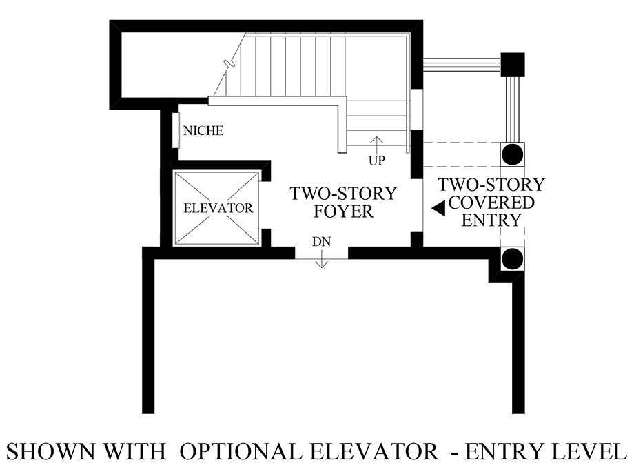 Optional Elevator - Entry Level Floor Plan