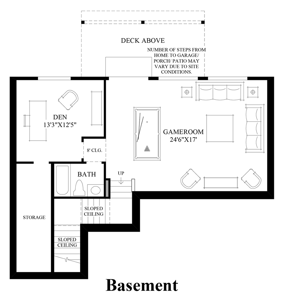 Bayview at gig harbor the georgia with basement home design - Basement design tool ...