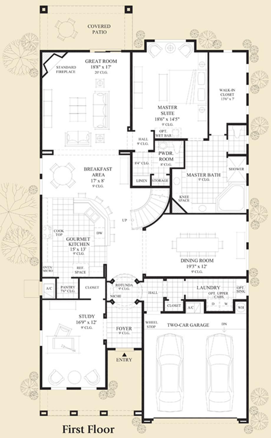 Model on Floor Plan Toll Brothers Scottsdale