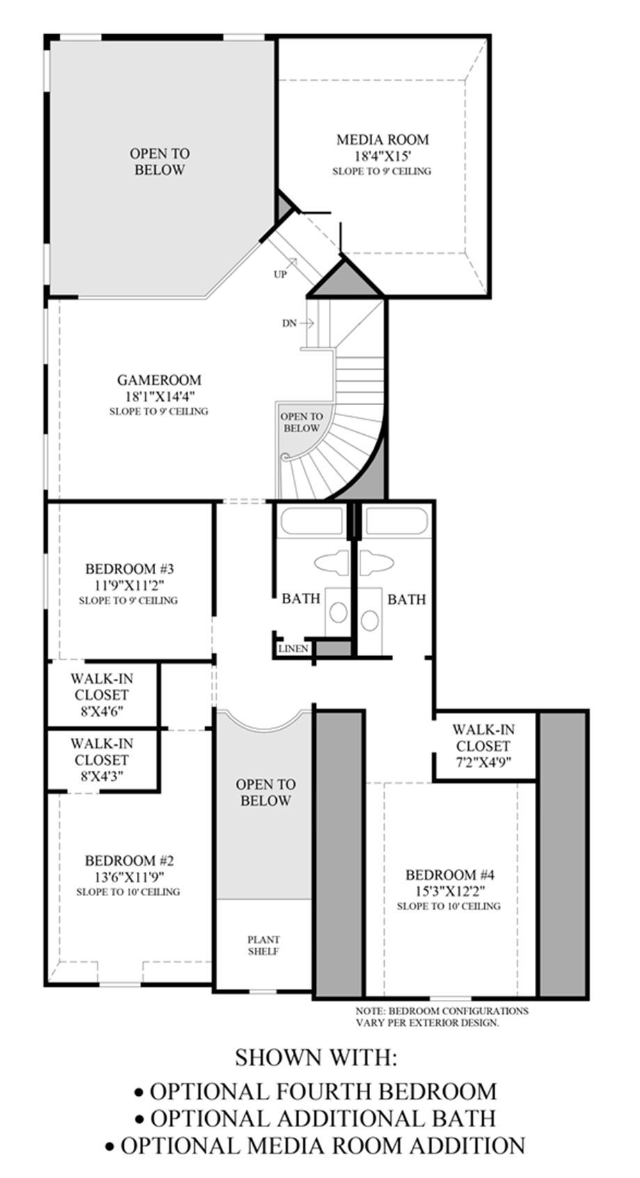 Optional 2nd Floor Layout Floor Plan