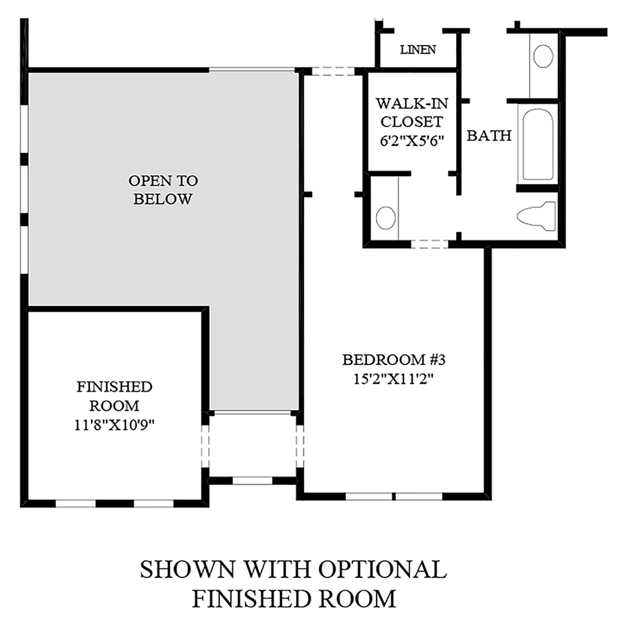 Optional Finished Room Floor Plan