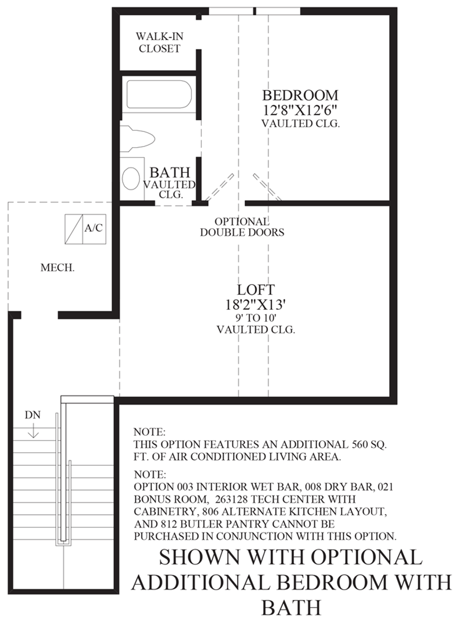 Optional Additional with Bedroom and Bath Floor Plan