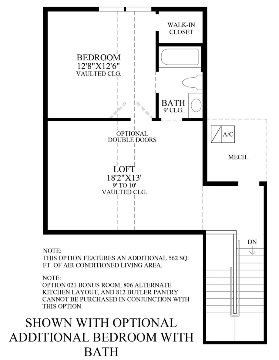 Optional Additional Bedroom w/ Bath Floor Plan