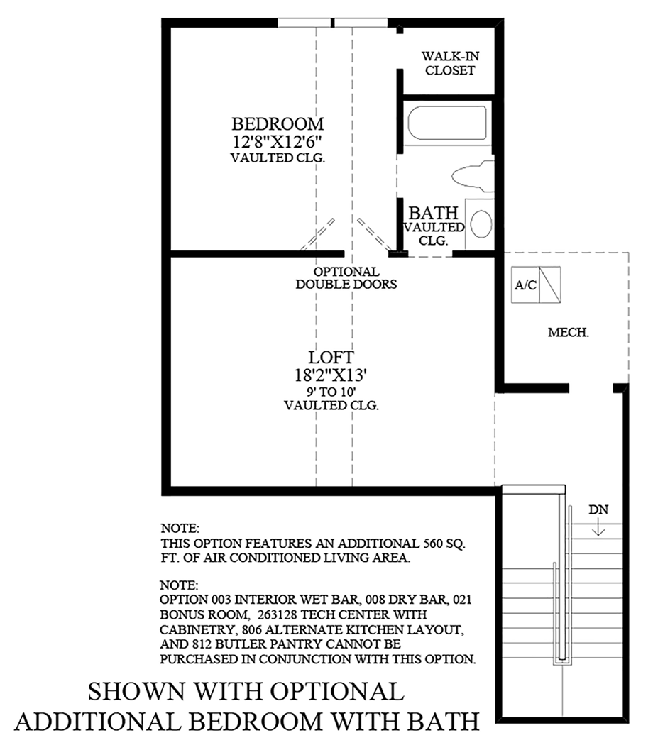 Optional Additional Bedroom with Bath Floor Plan