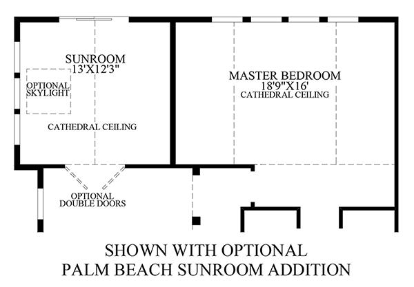 Optional Palm Beach Sunroom Addition
