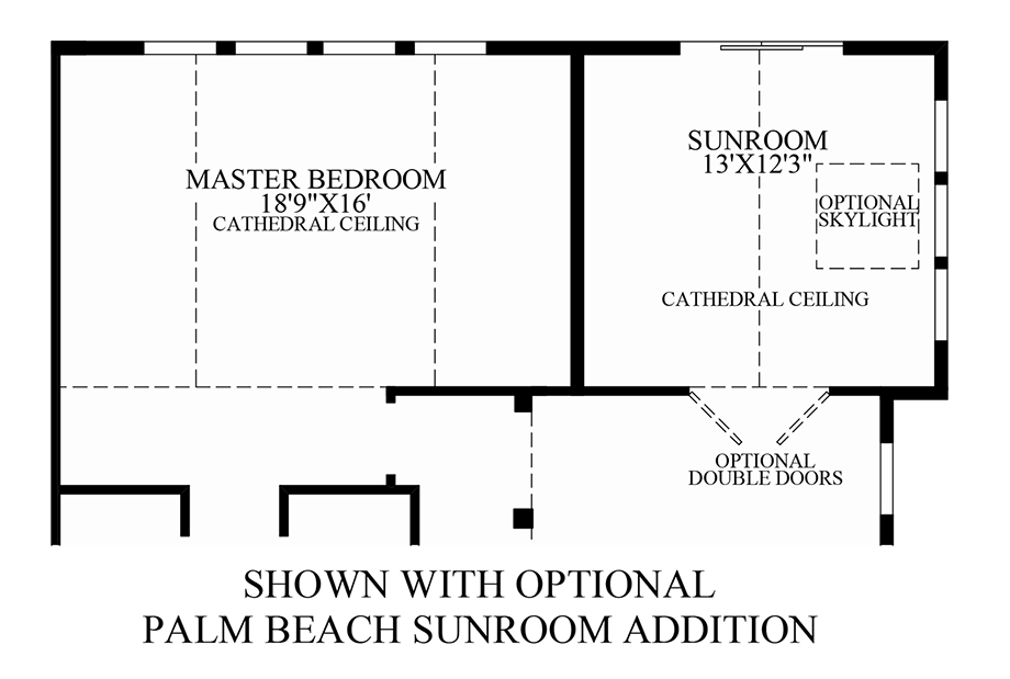 Enclave at shackamaxon the granview home design for Sunroom addition floor plans