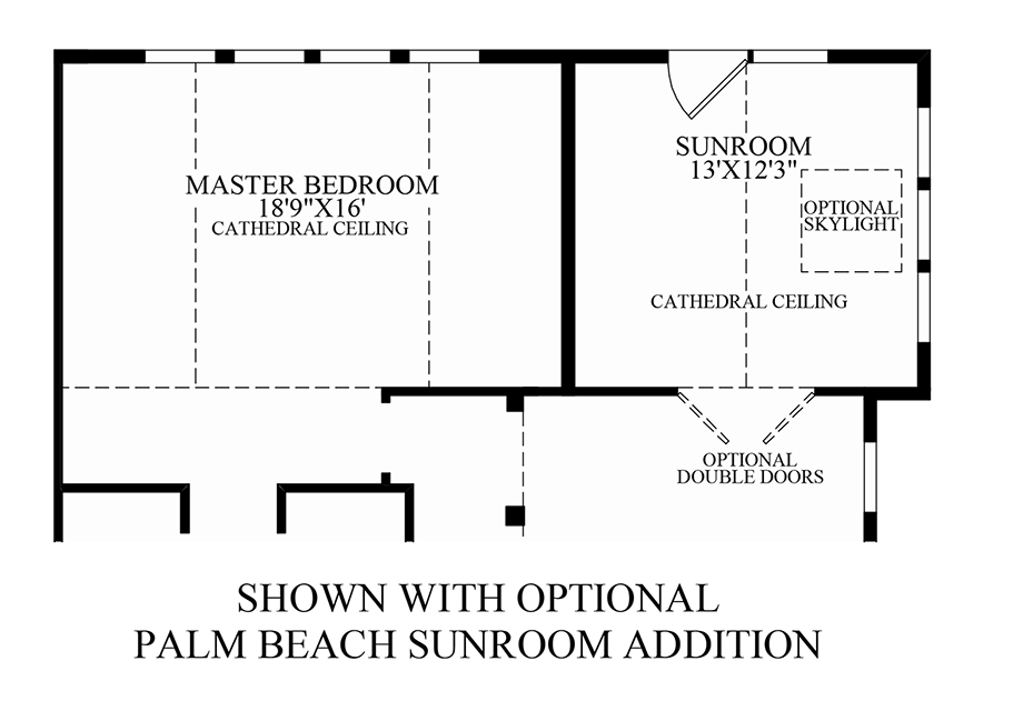Toll brothers at valeria the granview home design for Sunroom addition floor plans