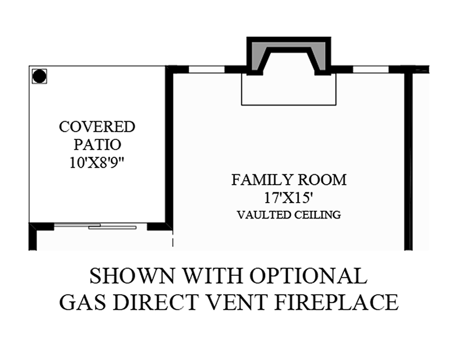 Optional Gas Direct Vent Firepace Floor Plan