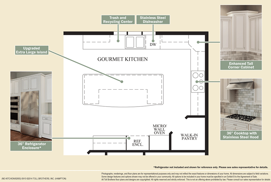 Outstanding Kitchen Features Floor Plan
