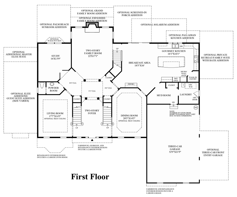 Preserve at marvin the hampton home design for Hamptons style floor plans