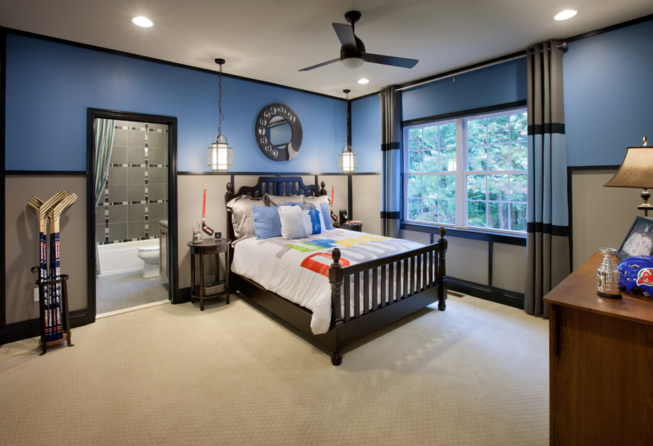 Toll brothers at oak creek the hampton home design for Model home bedrooms
