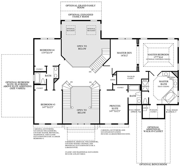 Luxury home plans dual staircase joy studio design for Dual staircase house plans