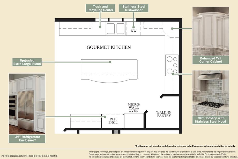 Outstanding Kitchen Features Floor Plan