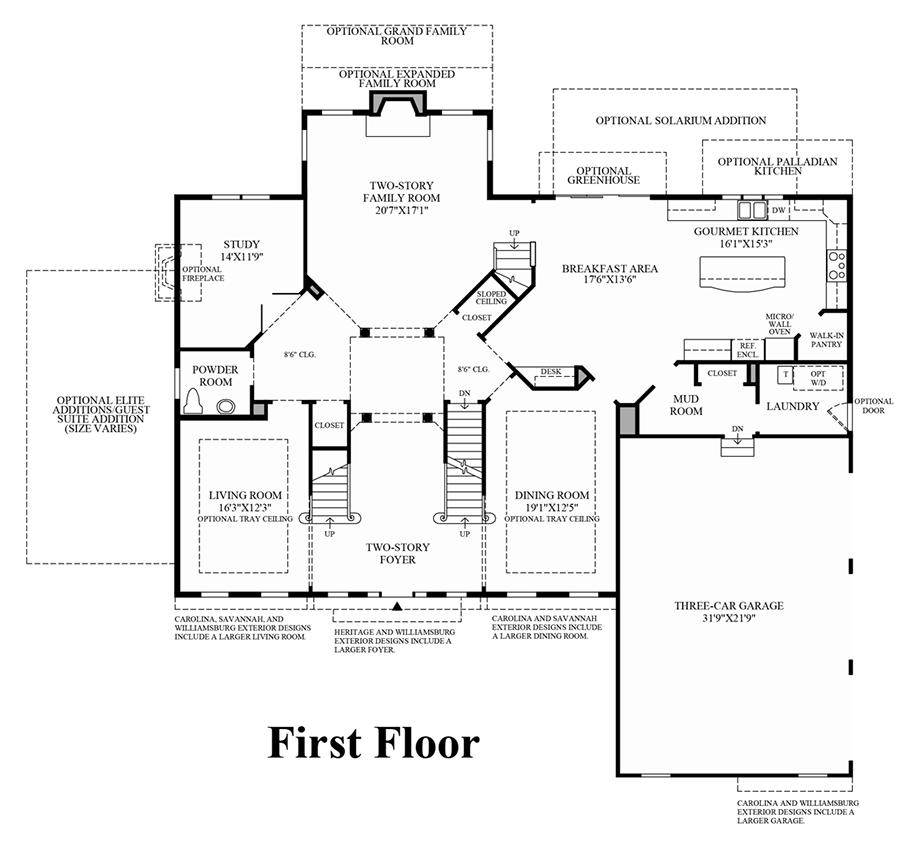 Marlboro ridge the estates the harding home design for Floor plans first