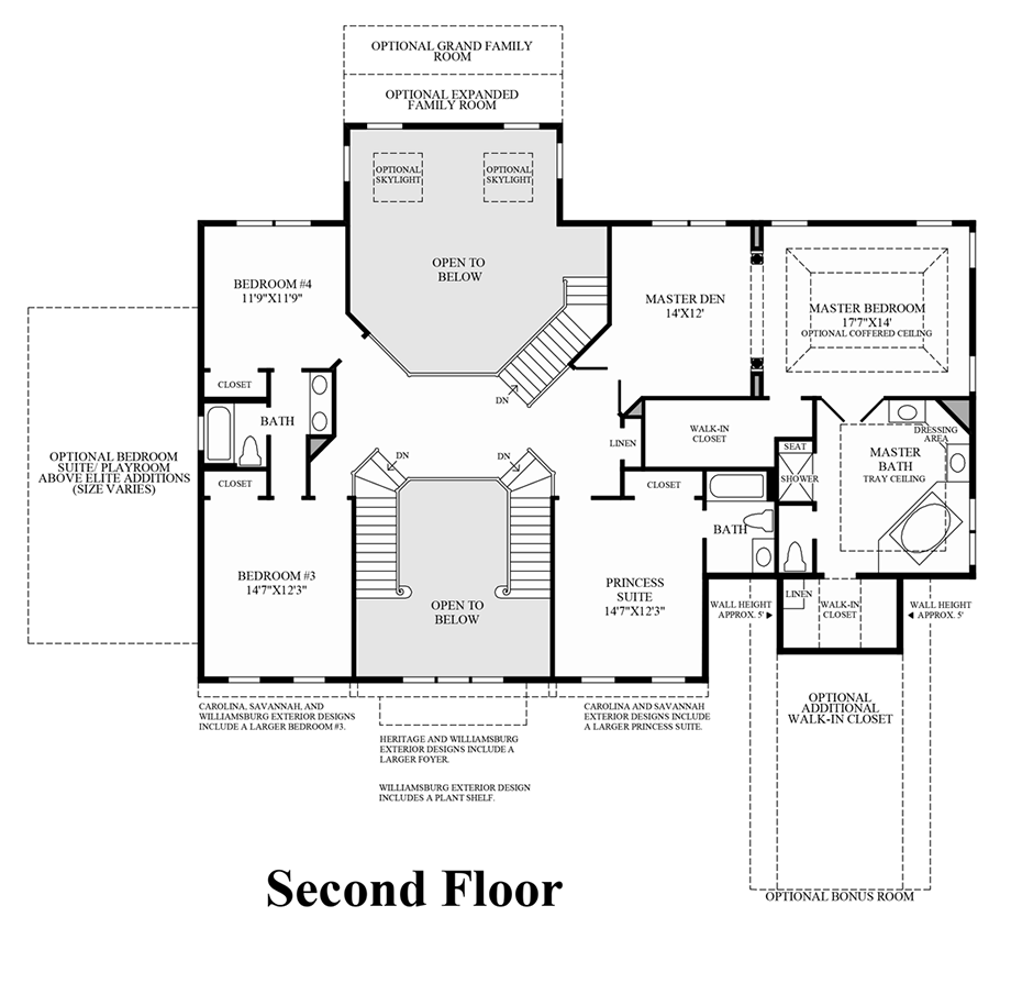 Marlboro ridge the estates the harding home design for 2nd floor house plan
