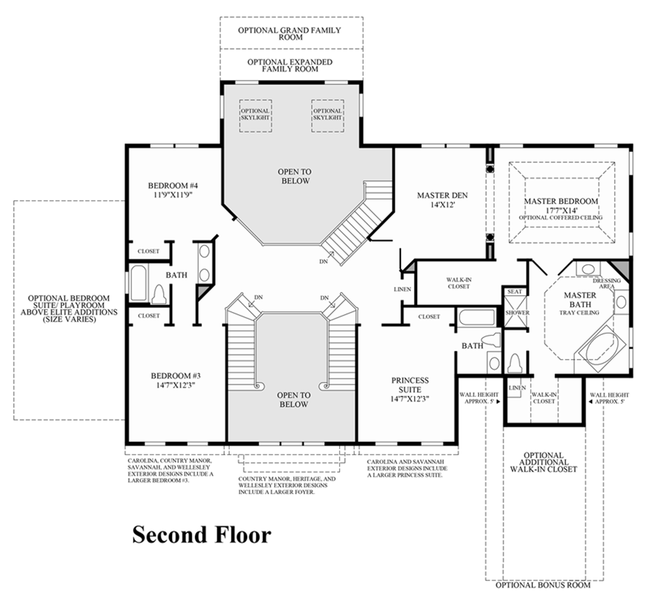 The woods of south barrington estate collection quick for Barrington floor plan