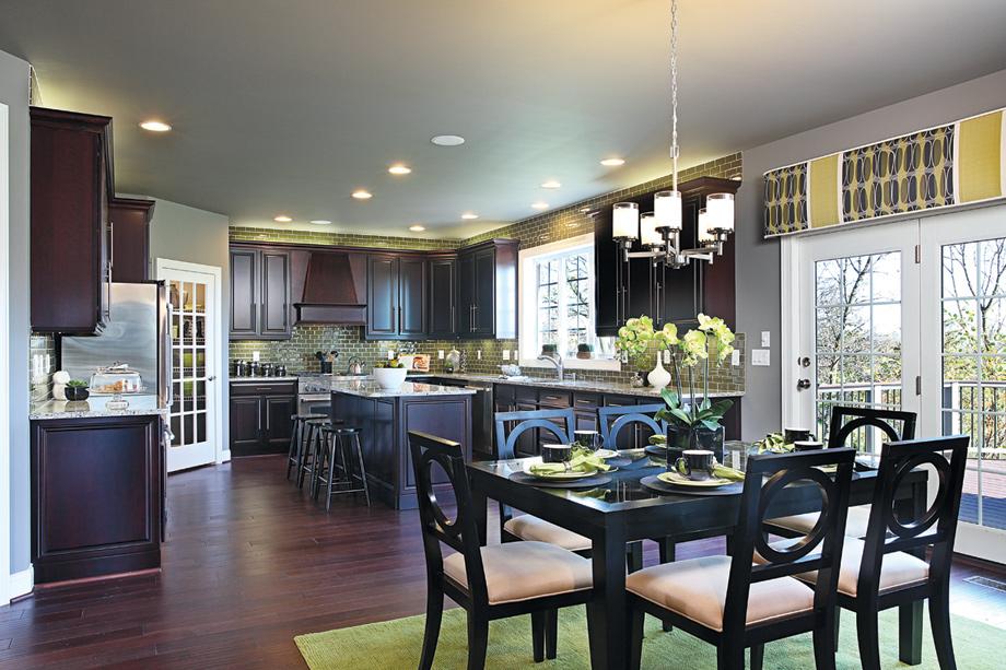 Alexandria estates the harding home design for Model home flooring