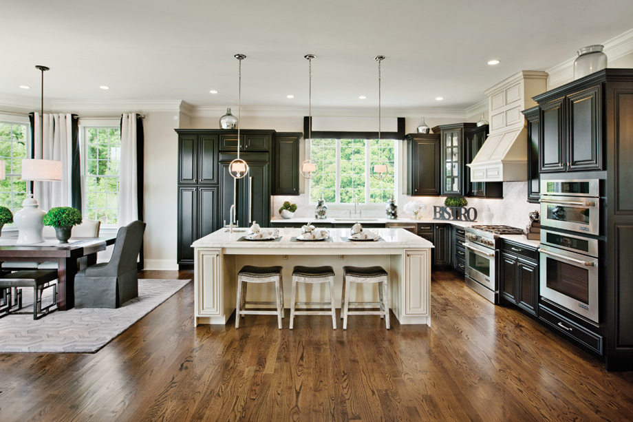 Enclave at rye brook the harkness home design for Gourmet kitchen island designs